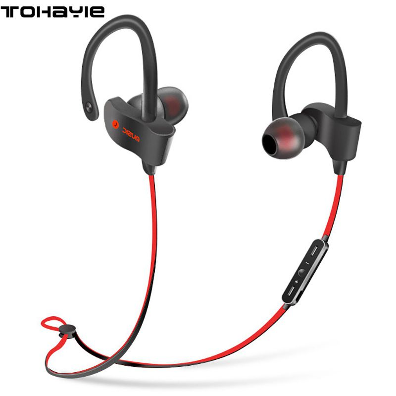 HiFi Wireless Bluetooth Earphones Ear Hook Sport Sweatproof Headset Neckband Running Earbuds Stereo Music Earphone With Mic bluetooth wireless earphones in ear sport running headsets waterproof anti sweat mini earphone hifi stereo mic for phone music