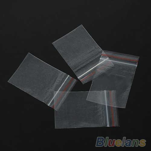 100PCS 4x6cm Small Zip Lock Plastic Bags Transparent Jewelry Ziplock Zip Zipped Lock Reclosable Plastic Poly Clear Bags