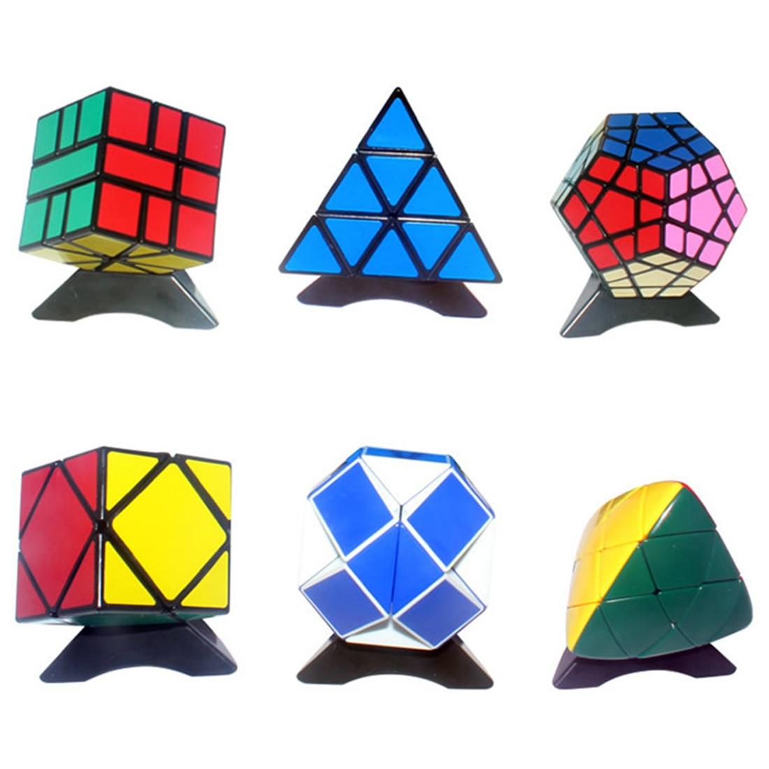 Shengshou Cube irrégulier Set 3x3x3 12-côtés Cube magique pyramide règle SQ-1 professionnel brochette Cubo Magico jouets pour enfants enfants