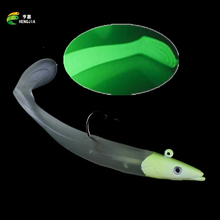 1pcs Lead Head Soft Minnow Lures Night Luminous Fishing Sport Baits For Crap Fish Tool Summer Fishing Tackle Wobblers Spinner
