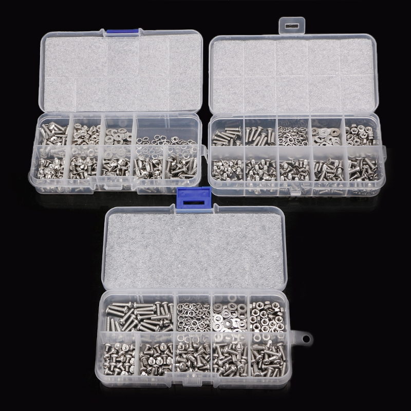 300Pcs/set M3 Nuts Stainless Steel Cross Screw Bolt Nut Woodworking Tools Fastener Hardware Screw Kit300Pcs/set M3 Nuts Stainless Steel Cross Screw Bolt Nut Woodworking Tools Fastener Hardware Screw Kit