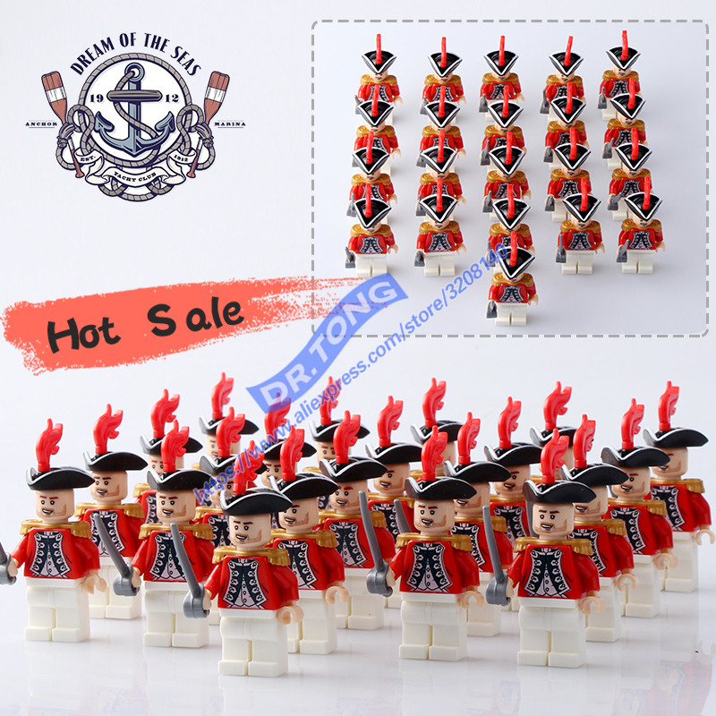 Image 2 - DR.TONG 21PCS/LOT Pirates of the Caribbean BritainRoyal Navy Figures Building Blocks Brick Toys-in Blocks from Toys & Hobbies