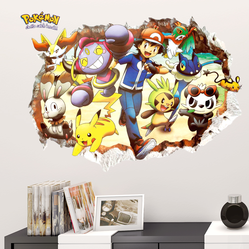 Harry Potter Smashed 3D Wall Decal Kids Sticker Decor Vinyl Mural Poster