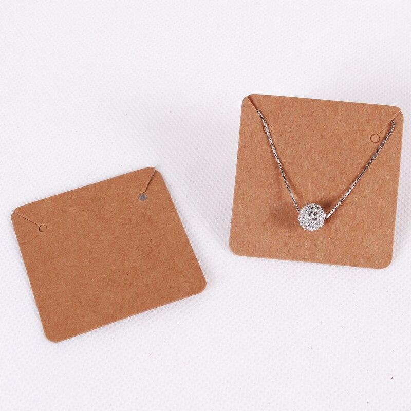Mega Deal 36272 50pcs Lot 5x5cm Blank Kraft Paper Jewelry