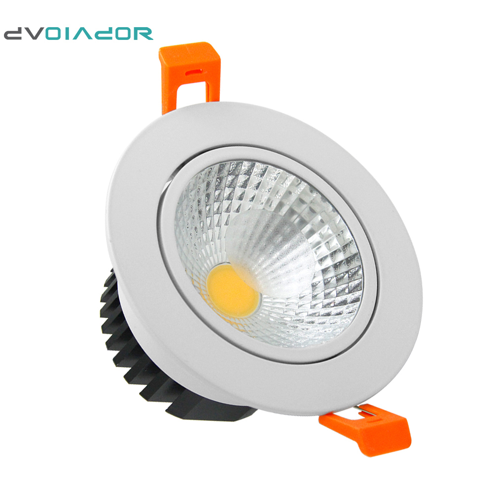 dvolador dimmable led cob downlight 15w 12w 9w 6w led spot ac 110v 220v frosted glass lens. Black Bedroom Furniture Sets. Home Design Ideas
