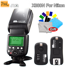 PIXEL X800N Wireless Speedlite i-TTL HSS Flash + Pixel Flash Trigger TF-362 for Nikon d3100 d7100 d90 d5300 d3200 d610 d7200 viltrox jy 610nii ttl lcd speedlite camera flash for nikon d700 d800 d810a d3100 d3200 d5500 d5600 d7500 d7200 d500 d5 d90 d610