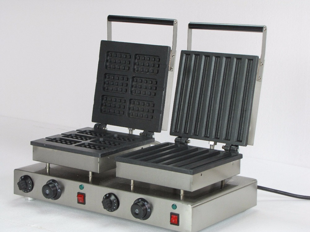 Electric Commerical double belgian waffle maker