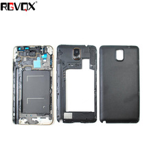 New Complete Upper+Middle Frame+Battery Cover For SAMSUNG Galaxy Note 3 N9006 Housing Battery Cover High Quality Replacement high quality replacement for psp1000 game machine psp1000 battery cover fat psp battery cover free shipping