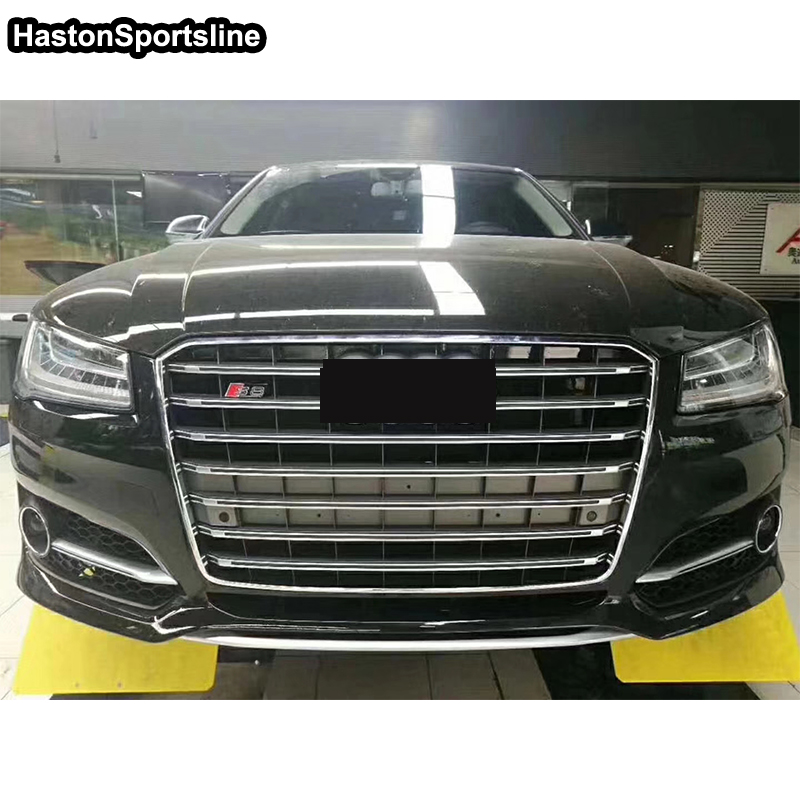 For <font><b>Audi</b></font> <font><b>A8</b></font> Chrome Frame Front <font><b>Hood</b></font> Center Grille Grill for <font><b>Audi</b></font> <font><b>A8</b></font> S8 2015 2016 2017 2018 image