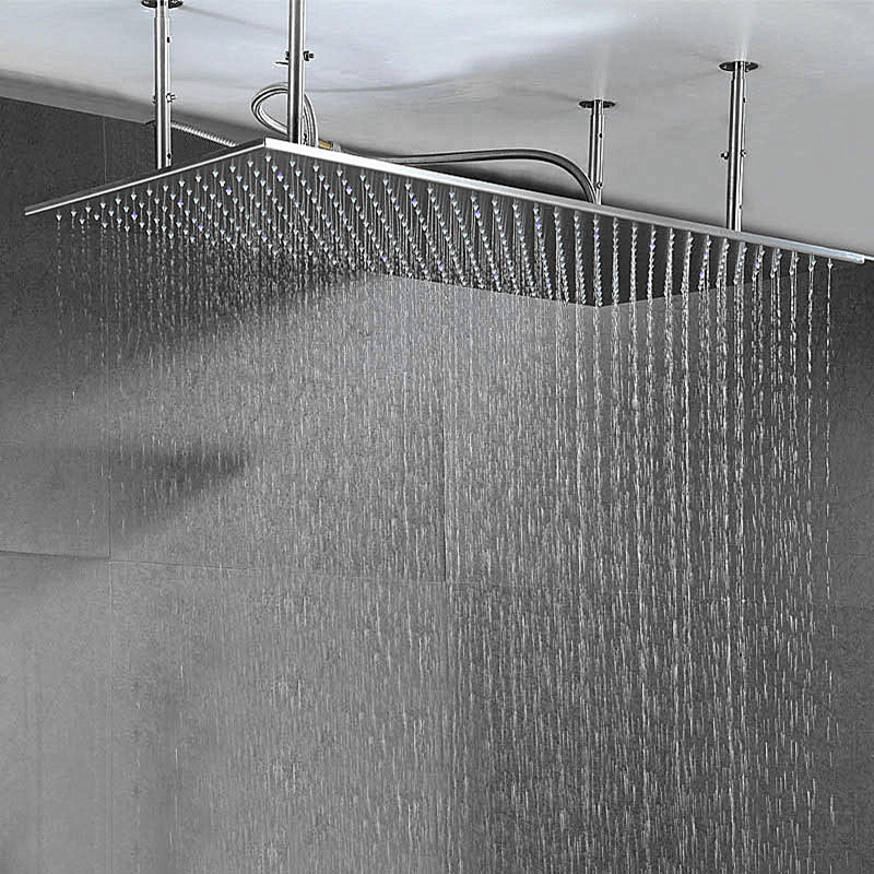 Bathroom Items Shower Mounted Ceiling Big Rianfall Showerhead SUS304 Showers 500*1000mm With 4 PCS Shower Arms Brushed/Polished