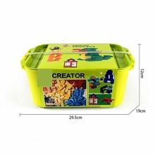 Storage Box 700PCS Grain Accept Spelling Insert Assembling Size Plastic Building Blocks Bucket Toy gift