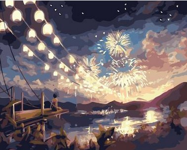 Diy Painting Seaside sky digital number decorative wall pictures living room canvas painting frameless 40X50cm AOP061|painting canvas - title=