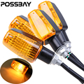 4Pcs/Lot 12V Universal Motorcycle Turn Signal Light Amber Indicator Blinker Flash Lamp For Honda Yamaha Suzuki Harley Touring