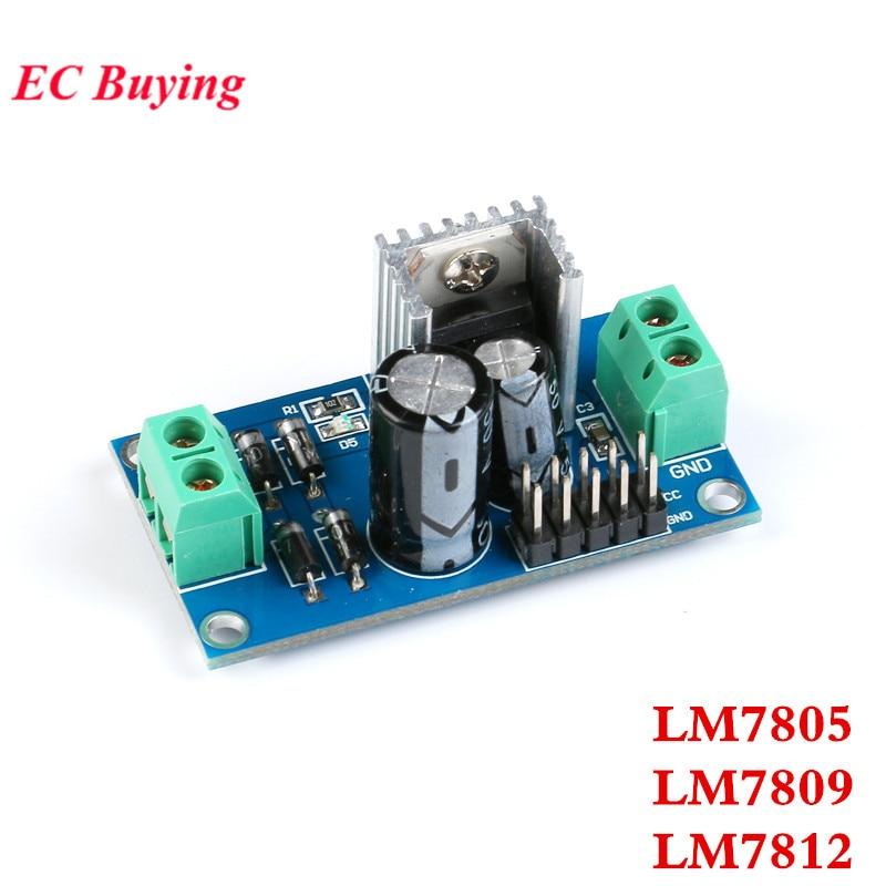 LM7805 LM7809 LM7812 AC-DC блок питания переменного тока в постоянный ток три терминала регулятор напряжения Модуль 5 в 9 в 12 В выход Макс 1.2A