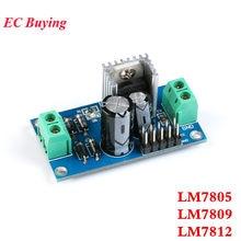 Lm7805 lm7809 lm7812 AC-DC ac para dc módulo de alimentação três módulo regulador de tensão terminal 5v 9v 12v saída máxima 1.2a