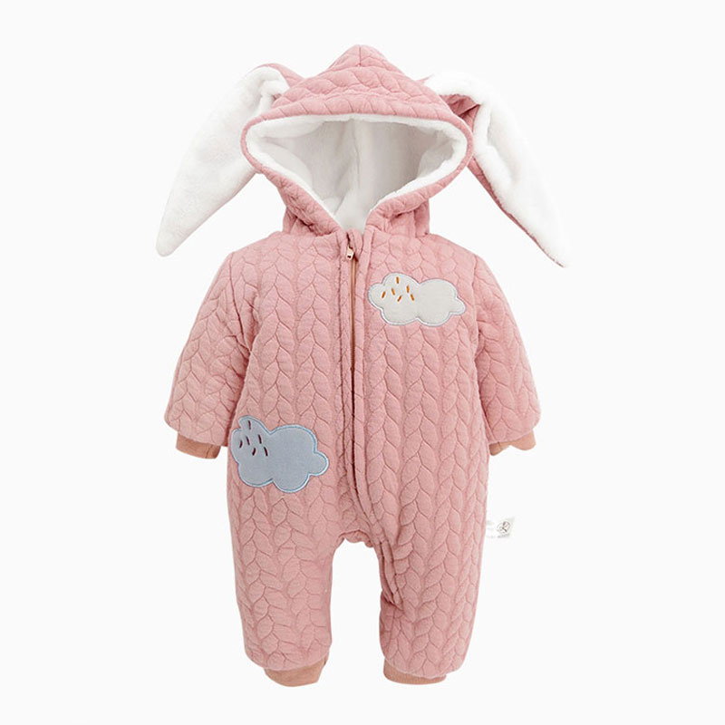Thick Cotton Hooded Cartoon Rompers For Newborns Baby Winter Down Clothing Toddler Outerwear Infant Girl Boy Jumpsuit Clothes 2016 newborn baby rompers hooded winter baby clothing bebethick cotton baby girl clothes baby boys outerwear jumpsuit infant