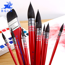NEEF 1Piece Handmade Squirrels Hair Artist Watercolor Paint Brush Pointed Painting Brushes For Art Supplies