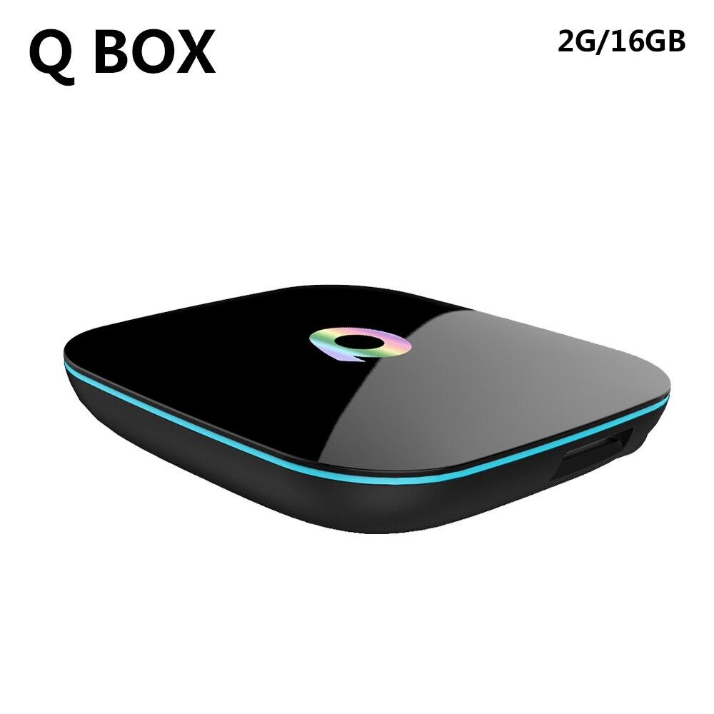 Android 6.0 TV Box Amlogic S905x Quad Core Q Box 2GB 16GB 2.4G/5GHz WIFI 4K HD 3D H.265 Smart TV BOX Bluetooth 4.0 Media Player