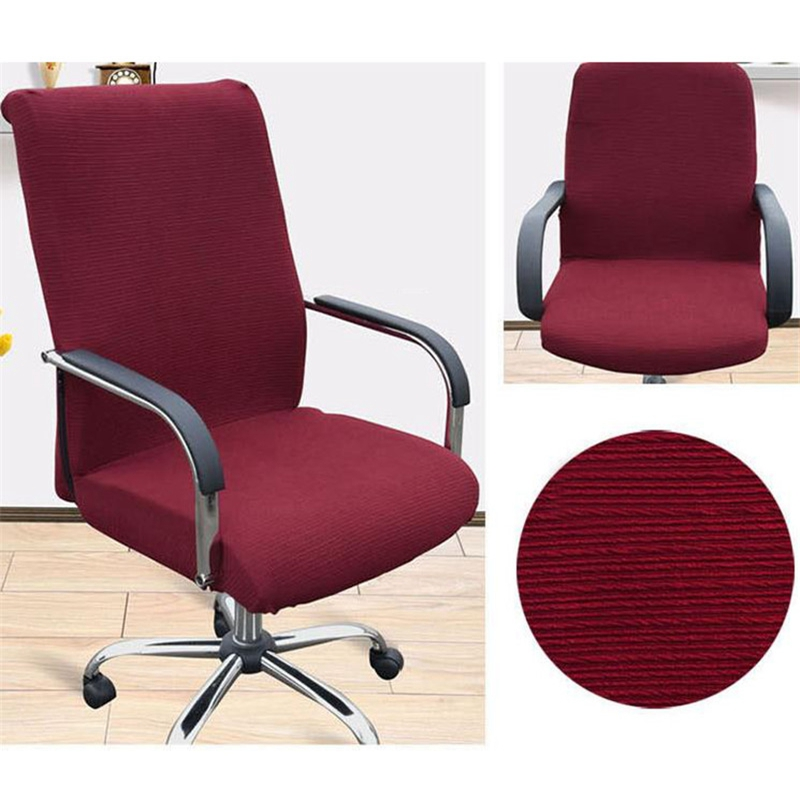 Solid large office computer chair cover side zipper design for Armchair side covers