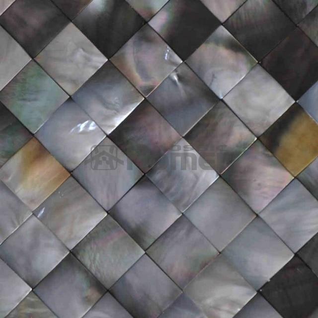 Gratis Verzending! natuurlijke zwarte parelmoer tegels 20x20mm ...