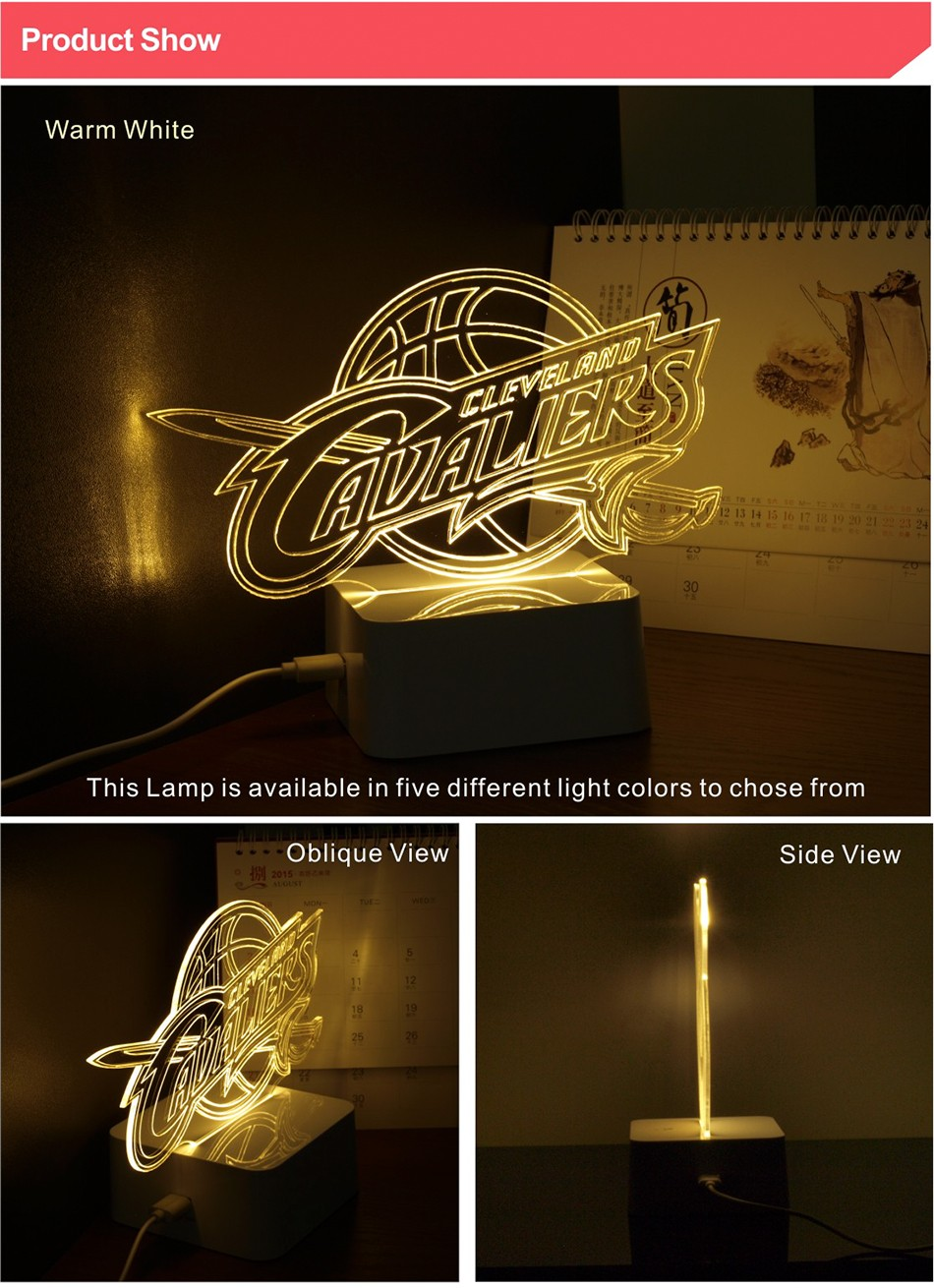 USB Novel Lamp NBA 3D LED Night Lights as Home Bedroom Decorative Besides Lampara for Cavalier Team (2)