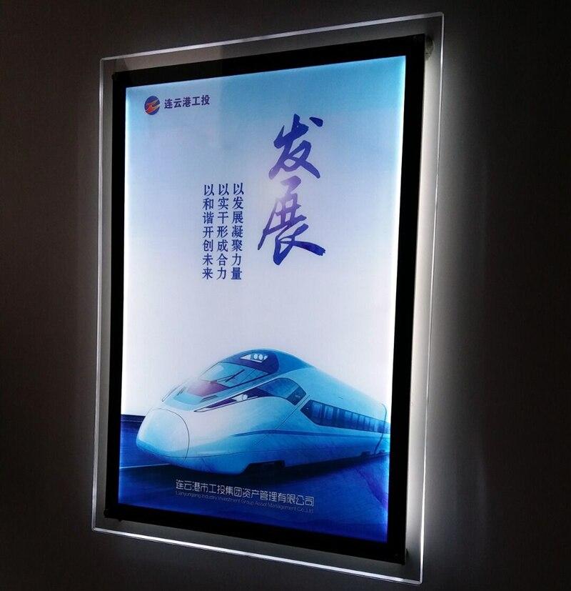 Slim Acrylic Poster Frames Led Illuminated Advertising