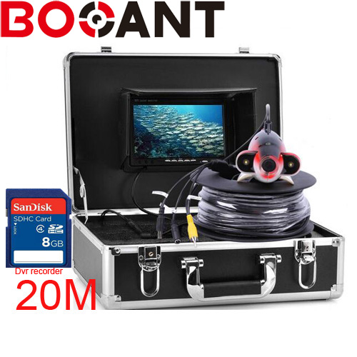 Professional Fish Finder Underwater Fishing Video Camera Monitor 7 Inch 20m-50m Cable 1000TVL Night Vision Fishing Finder 2 4g wireless fish finder underwater fishing camera video free soft app 50m underwater breeding monitoring for fish searching