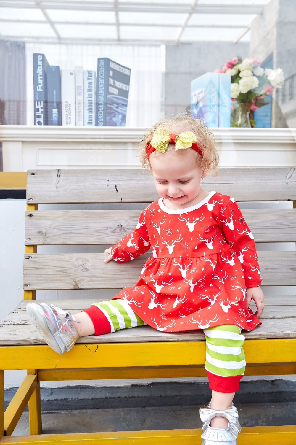 c04dfeea65e0 Newborn Baby Girls Christmas Outfit cotton Romper with Striped Pants  outfits Jumpsuit Costume 2017 baby thanksgiving clothing Tags