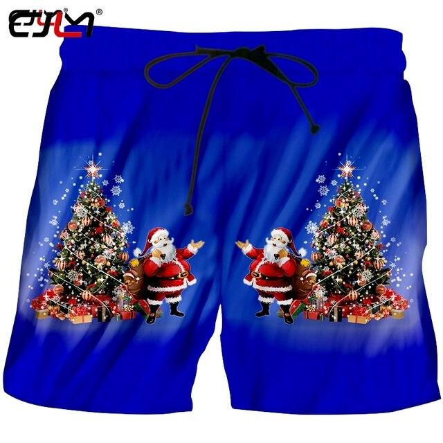 de586fd81c7 Cjlm the new listing mens clothing printed christmas tree and santa claus  colored casual man big