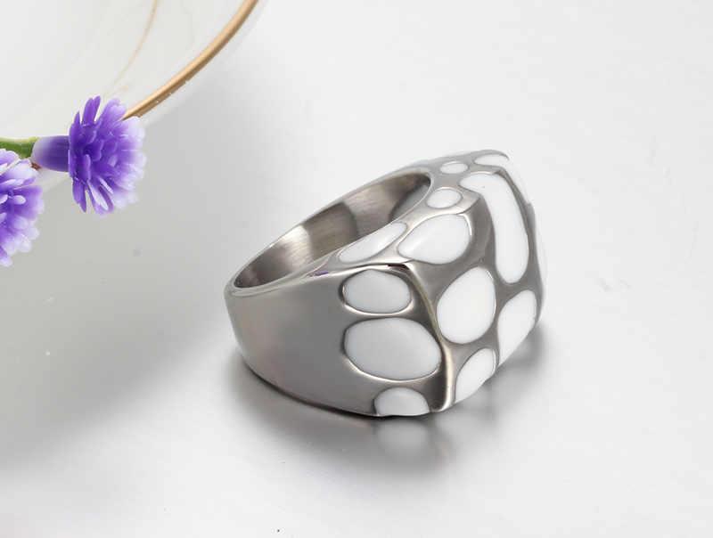 Meaeguet ขายส่งแหวนสแตนเลสผู้ชายและผู้หญิงแหวนสแตนเลสแหวนเครื่องประดับ