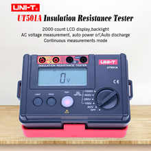 Insulation Resistance Tester UNI-T UT501A 100-1000V Megger meter Earth Ground Resistance Tester Megohmmeter 30~750V AC voltmeter - DISCOUNT ITEM  20% OFF Tools