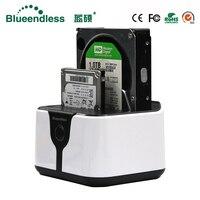 2 Bay Harddisk Box Usb3 0 Hdd External Enclosure Eu Plug Sata 2 5 Case Plastic