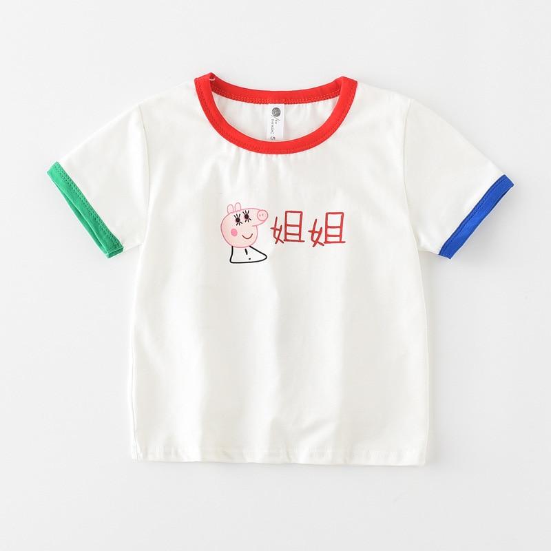 2018 new arrival brand baby kids boys summer cartoon tshirts boy girl tops and tees t shirt enfant girls t-shirt,free shipping