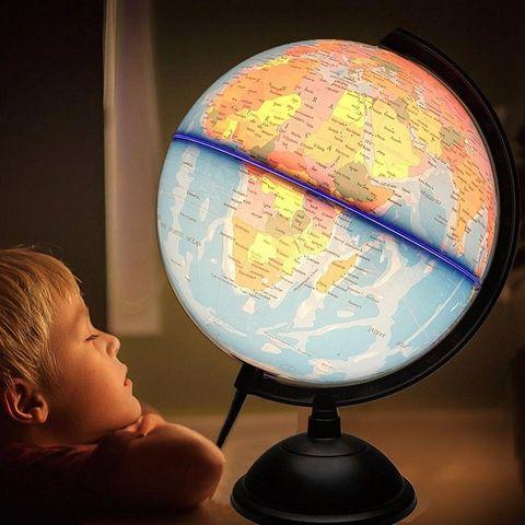 32cm eletrica com luz globo mundo mapa da terra ensinar educacao geografia brinquedo tellurion terrestre