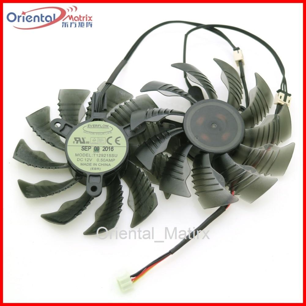 Free Shipping T129215SU 12V 0.50A 86mm 3Pin For Gigabyte GTX960 GTX970 GTX1050 GTX1060 Graphics Card VGA Cooler Cooling Fan msi gtx970 gtx980 gtx980ti graphics card cooling fan