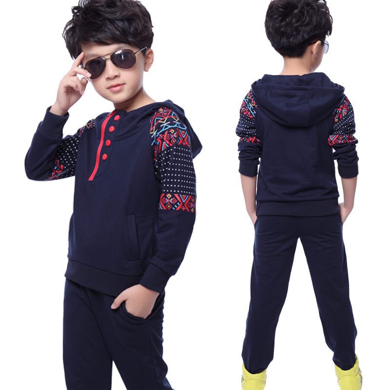 2017 Spring Autumn Clothes Sets For Girls Tracksuit Boys Sport Suit Children Clothing Suit Hooded Sweatshirts + Pants 2pcs/set  casual kids clothes boys girls clothing sets sports autumn 2017 2pcs girl tracksuit hooded boy set long sleeve children suit