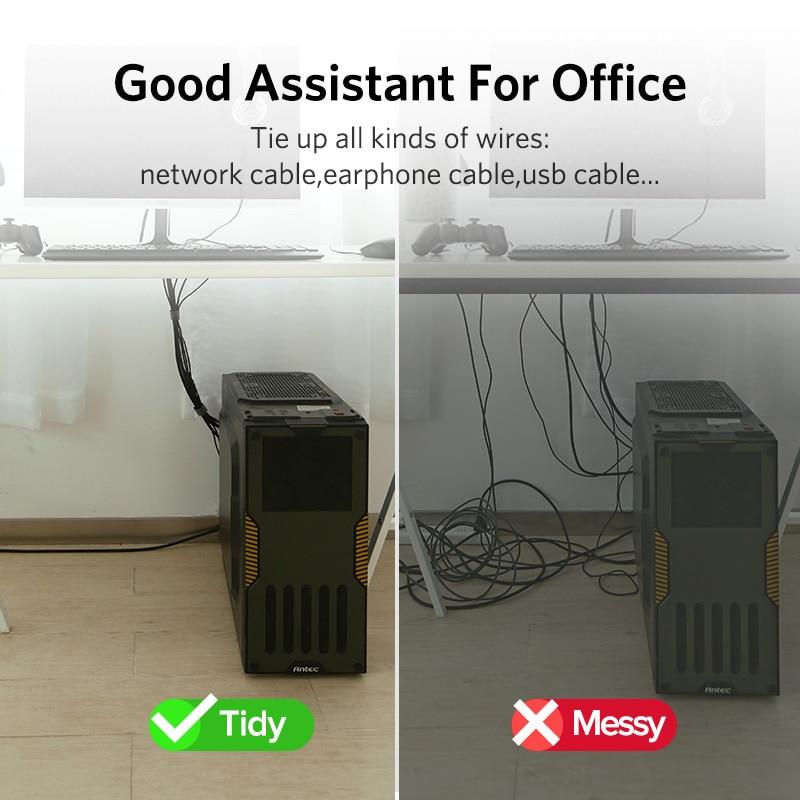 HOT!! Cable Reel Organizer Desktop Clip Cord Management Headphone Wire Holder
