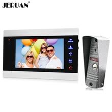 JERUAN METAL Waterproof 800TVL COMS Camera 7 inch LCD Video door phone Record intercom Video doorbell Intercom System