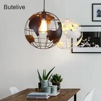 LED Modern Pendant Light Globe Earth Pendant Lamp Industrial Hanglamp Loft Hanging Lamp Lamp Lamparas De Techo Colgante Moderna