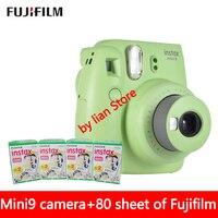 New 5 Colors Fujifilm Instax Mini 9 Instant Photo Camera + 80 sheet Fuji Instax Mini 8 White Film + Close up Lens Free shipping