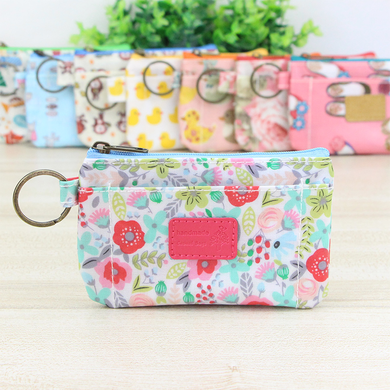 Katuner New Floral Waterproof Cute Wallet Child Kids Coin Purse Girl Purse Women Mini Coin Bag For Key Card Porte Monnaie KB087 ...