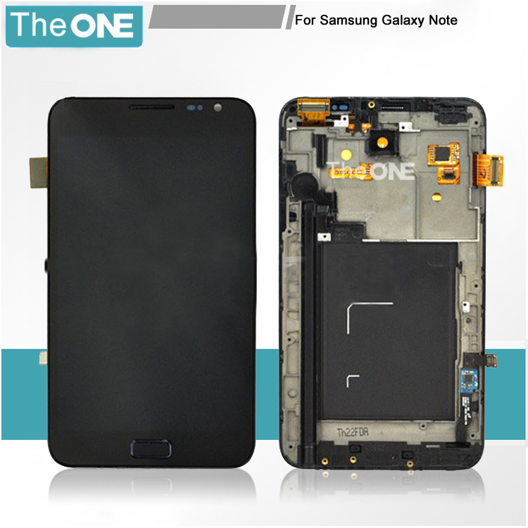 Free DHL for Samsung Note I9220 N7000 lcd display+touch digitizer+frame assembly original black/white