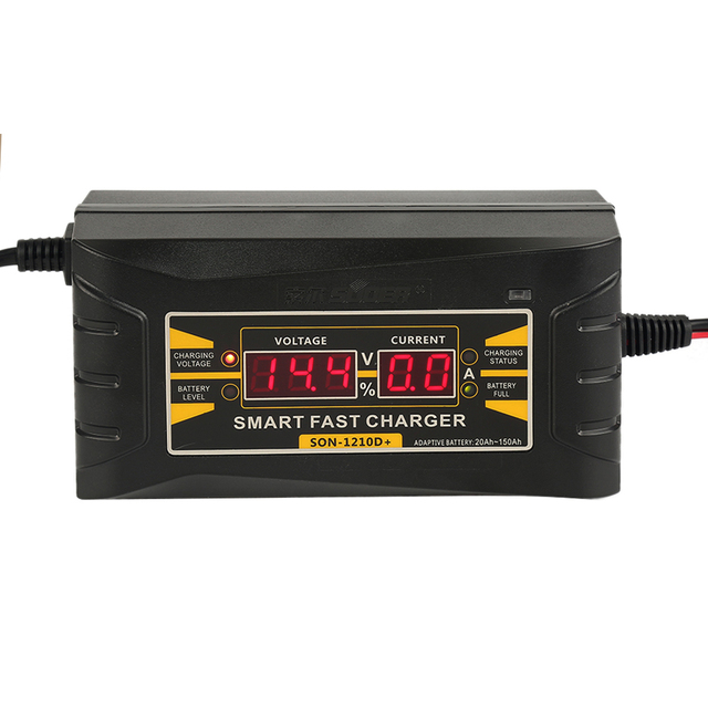 Full Automatic Car Battery Charger 12V 10A LCD intelligent display ...
