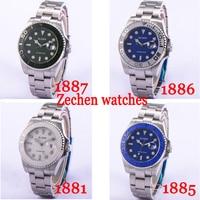 BLIGER 40mm/43mm Ceramic Bezel sapphire automatic Day mens green dial Luminous Mechanical Hand Wind watch
