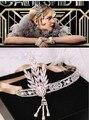 Барокко преувеличены металла жемчужные цветы крест корона кристалл шелк оголовье свадебный лента для волос ювелирные изделия 489