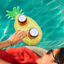 3 Pieces/pair 2 Hole 40CM Pineapple Inflatable Drink Cup Holders Wedding Birthday Party Supply Swimming Pool Toys