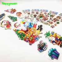 Happyxuan 30 Sheets Nette Kinder Puffy Aufkleber Weihnachten Santa Claus Scrapbooking Dekoration Kindergarten Belohnung Schule Lehrer
