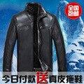 Envío libre 2014 ropa de Hombre ropa de cuero bereber de lana de una pieza de piel de oveja genuina ropa de cuero chaqueta/M-4XL