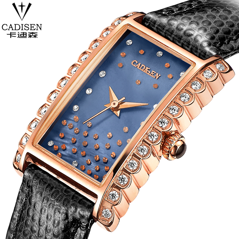 Brand Women Watches Women Genuine Leather rectangle reloj mujer Dress Watch Ladies Quartz Rose Gold Wrist Watch Montre Femme tezer ladies fashion quartz watch women leather casual dress watches rose gold crystal relojes mujer montre femme ab2004