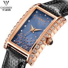 Brand Women Watches Women Genuine Leather rectangle reloj mujer Dress Watch Ladies Quartz Rose Gold Wrist Watch Montre Femme